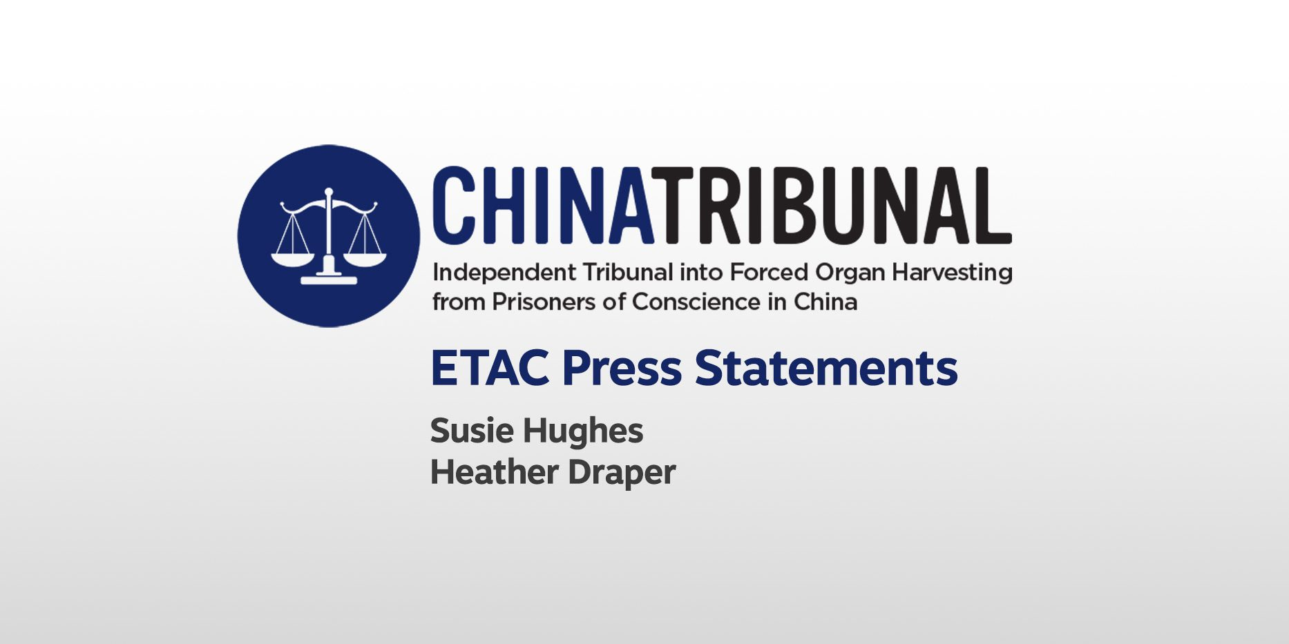 ETAC Press Statements for the Independent Tribunal into ...